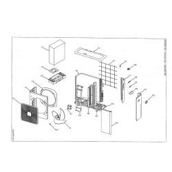 4MXS80E2V3B Pièces détachées DAIKIN pour 4MXS80E2V3B cartes, compresseur